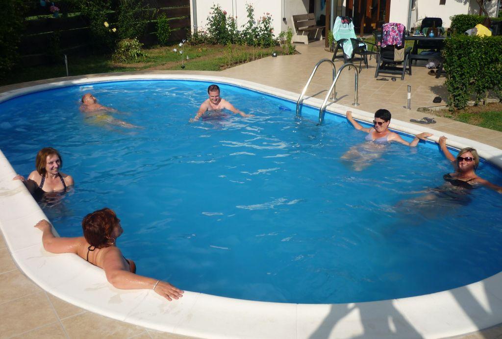 lekker groot zwembad van 8x4