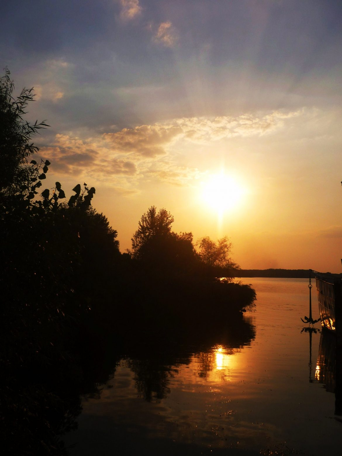 zonsondergang Tisza